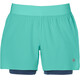 asics 2-N-1 5.5In Running Shorts Women turquoise